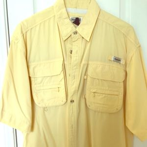 Pale Yellow Magellan Fishing Shirt